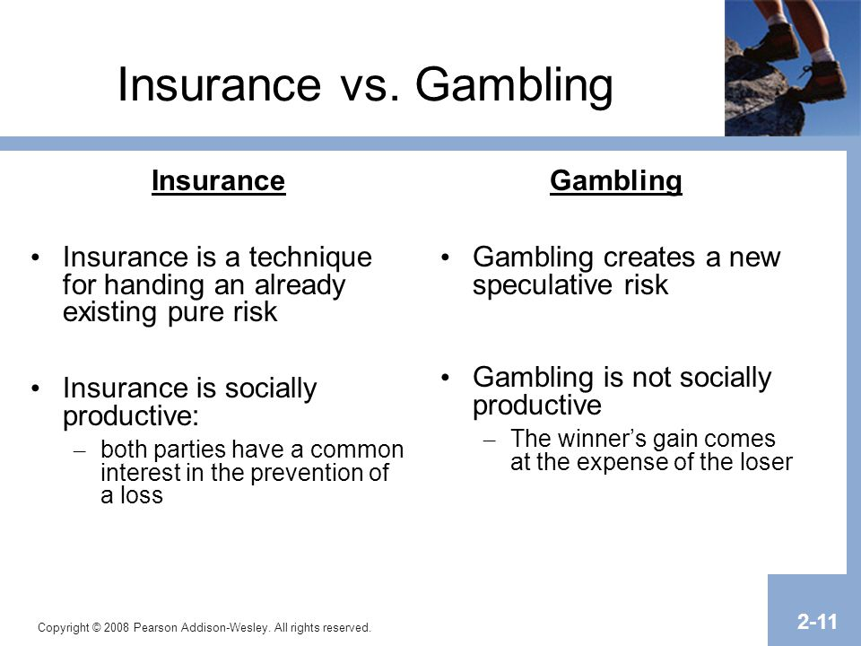 Insurance and gambling compared playnow online casino