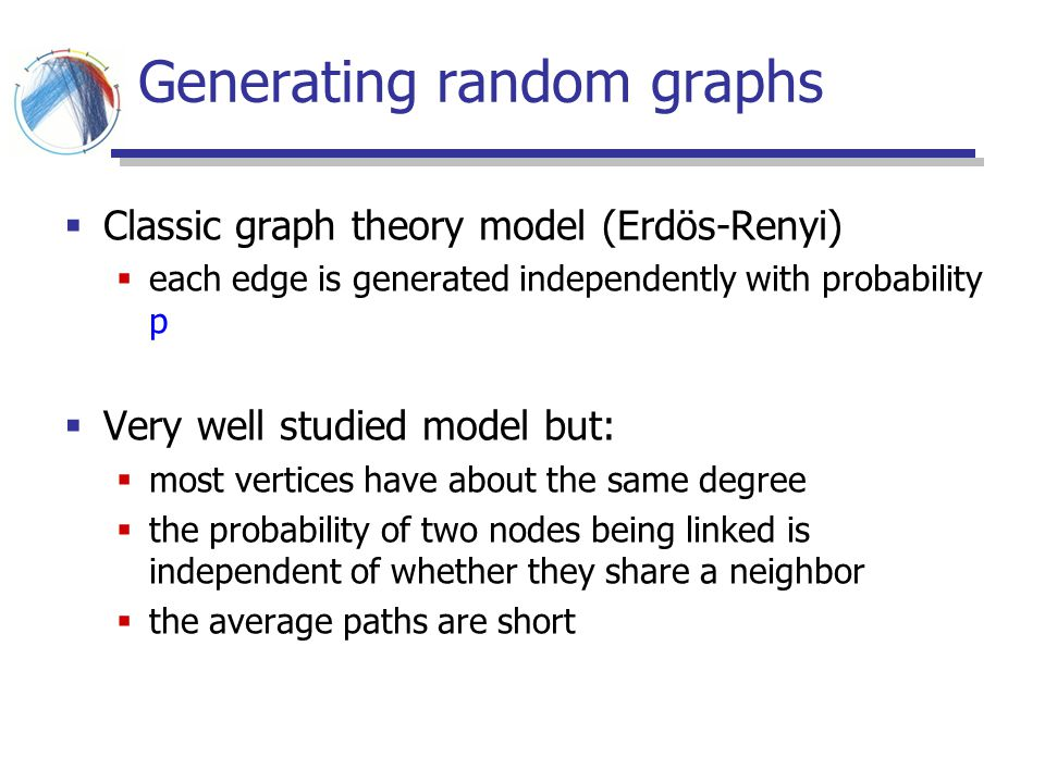 Generating random graphs