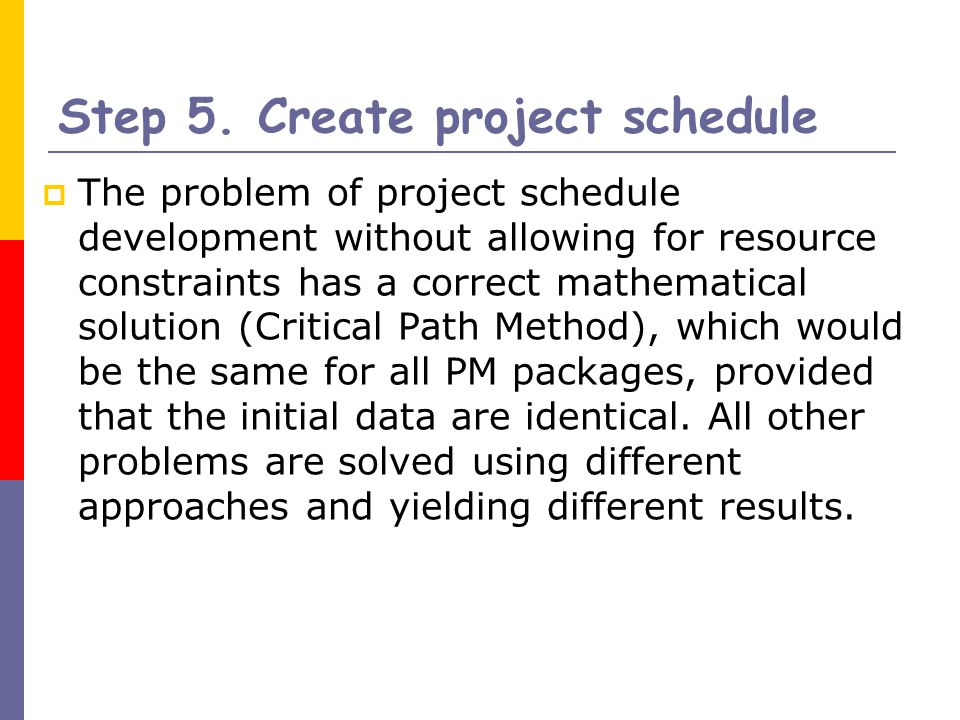how to create a project schedule