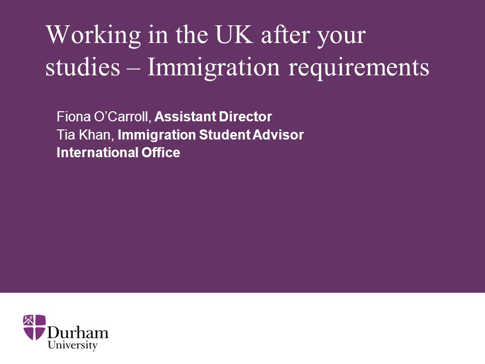 Working in the UK after your studies – Immigration requirements