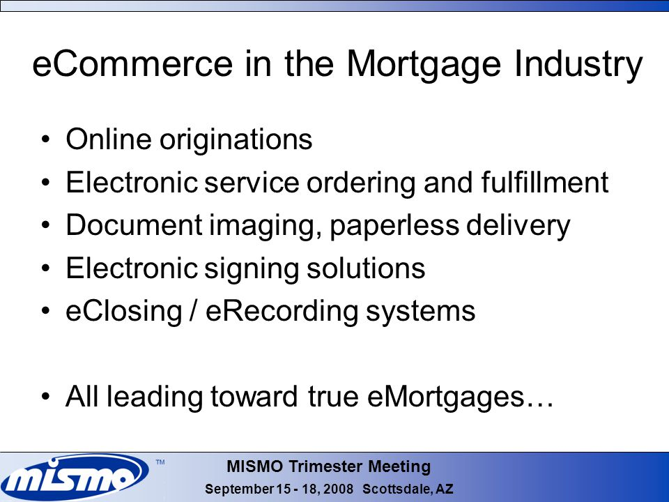 Mismo overview september ppt download for Electronic document delivery service