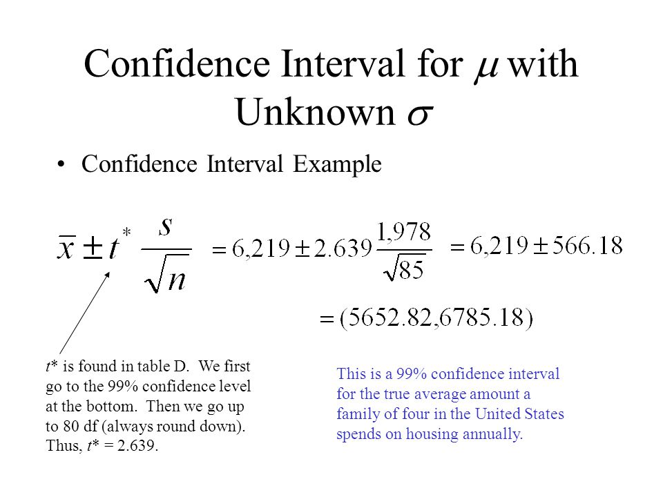 Chapter 7 inference for means ppt video online download for T table 99 confidence interval