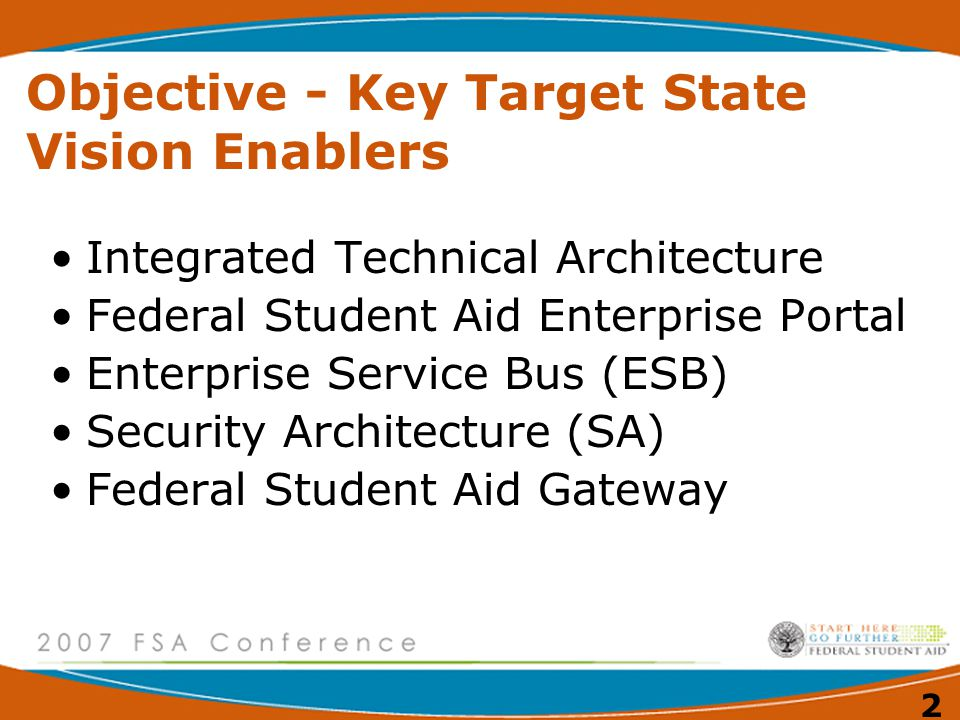 Objective - Key Target State Vision Enablers