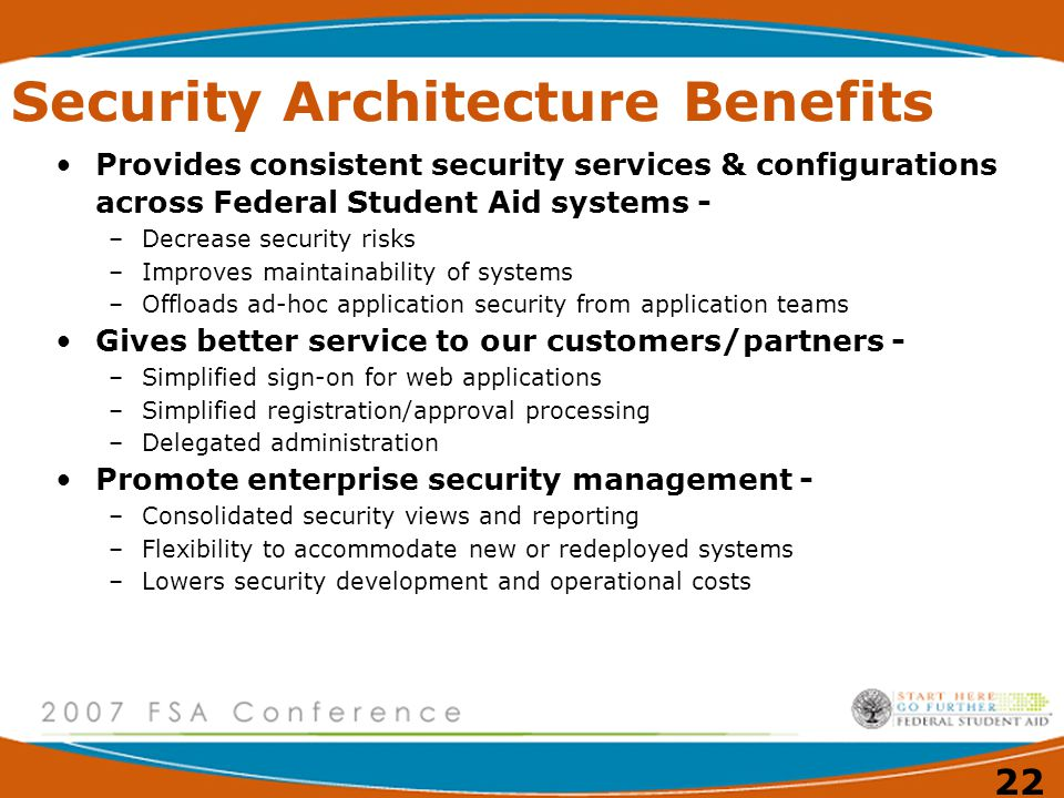 Security Architecture Benefits