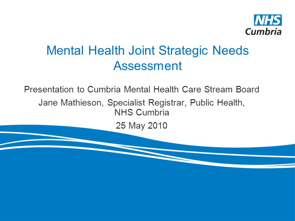 Mental Health Joint Strategic Needs Assessment - Ppt Download
