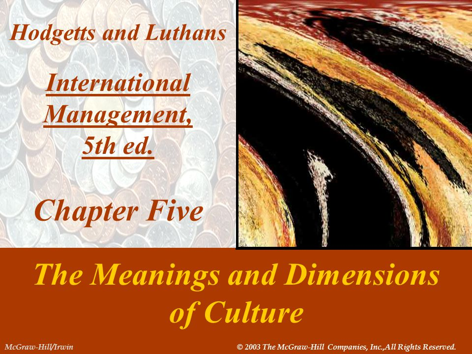 International Management, The Meanings and Dimensions