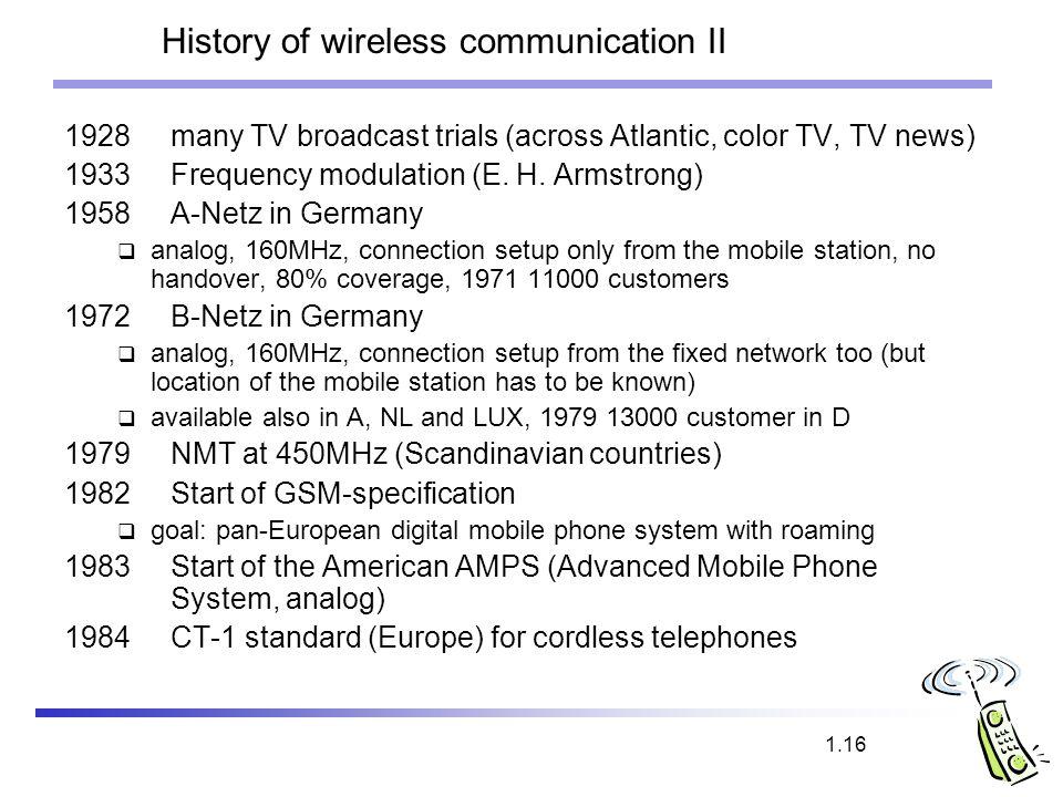 History of wireless communication II