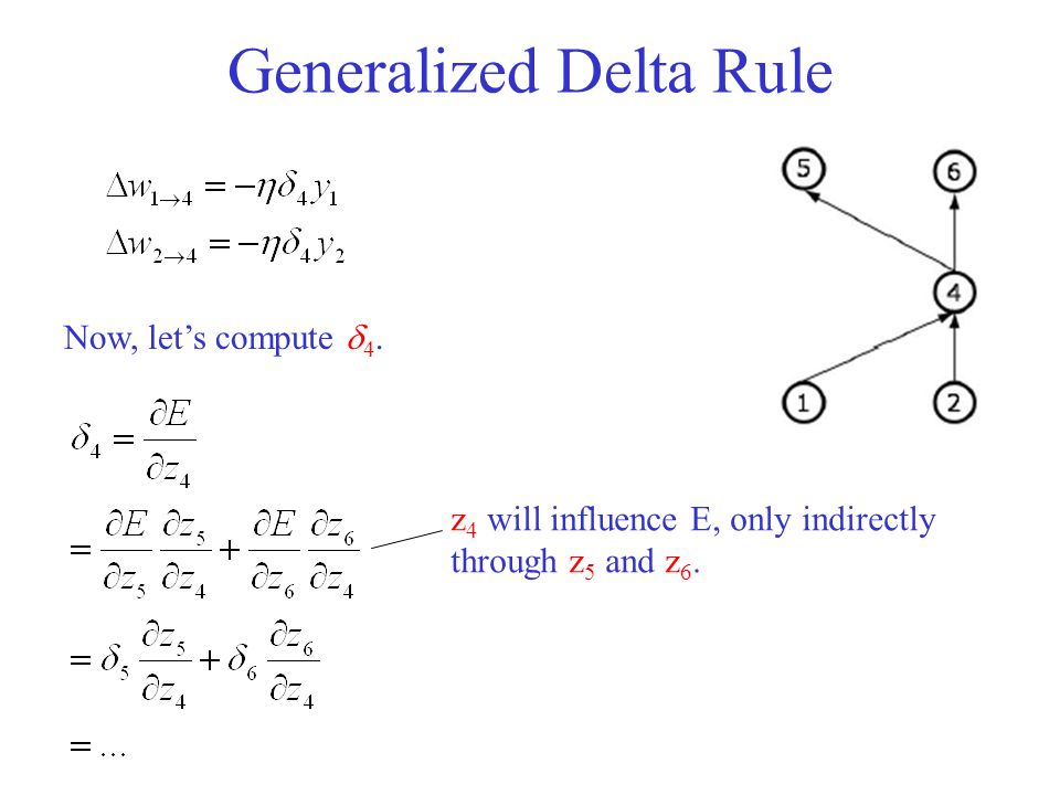 Generalized Delta Rule