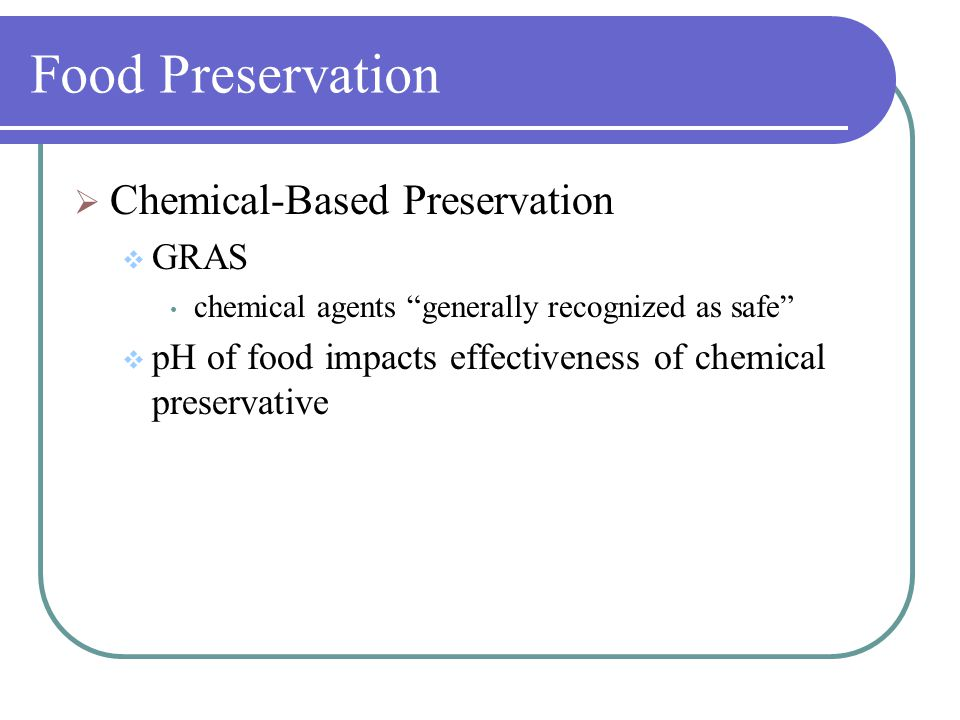Chemical food preservation