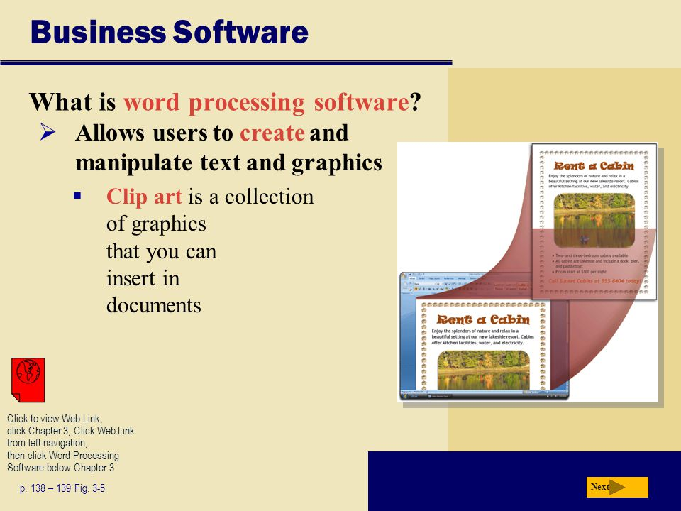 Business Software What is word processing software