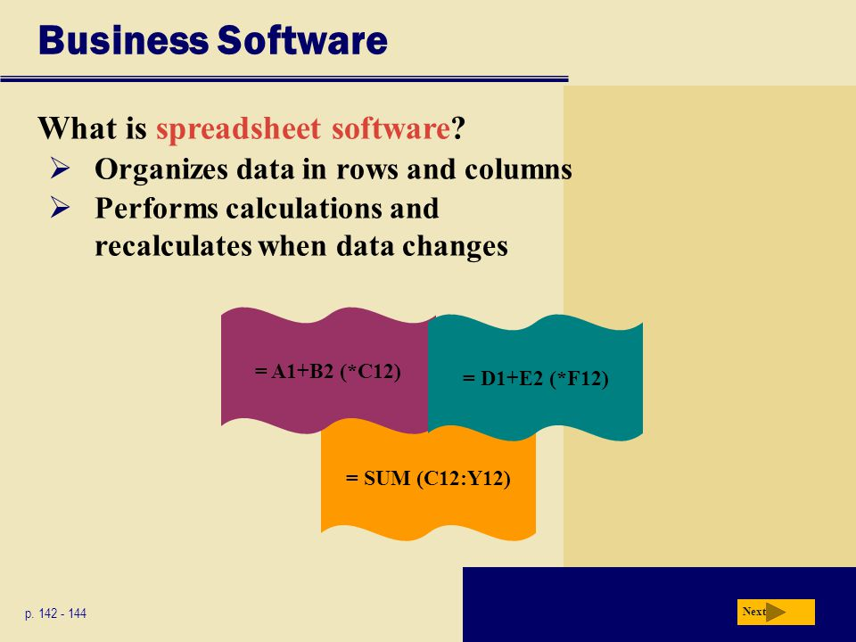 Business Software What is spreadsheet software