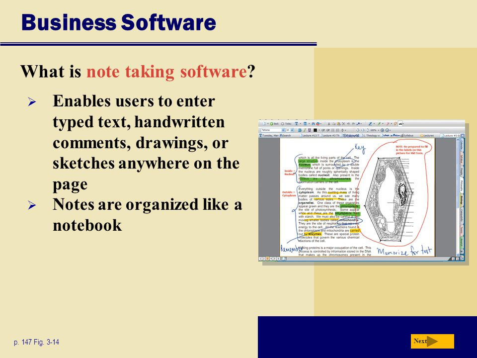 Business Software What is note taking software