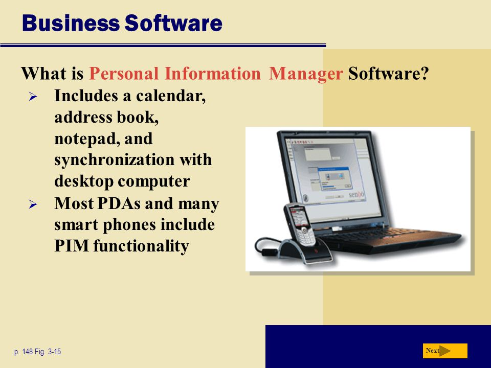 Business Software What is Personal Information Manager Software