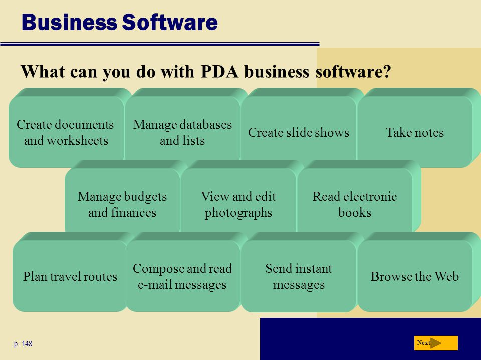 Business Software What can you do with PDA business software