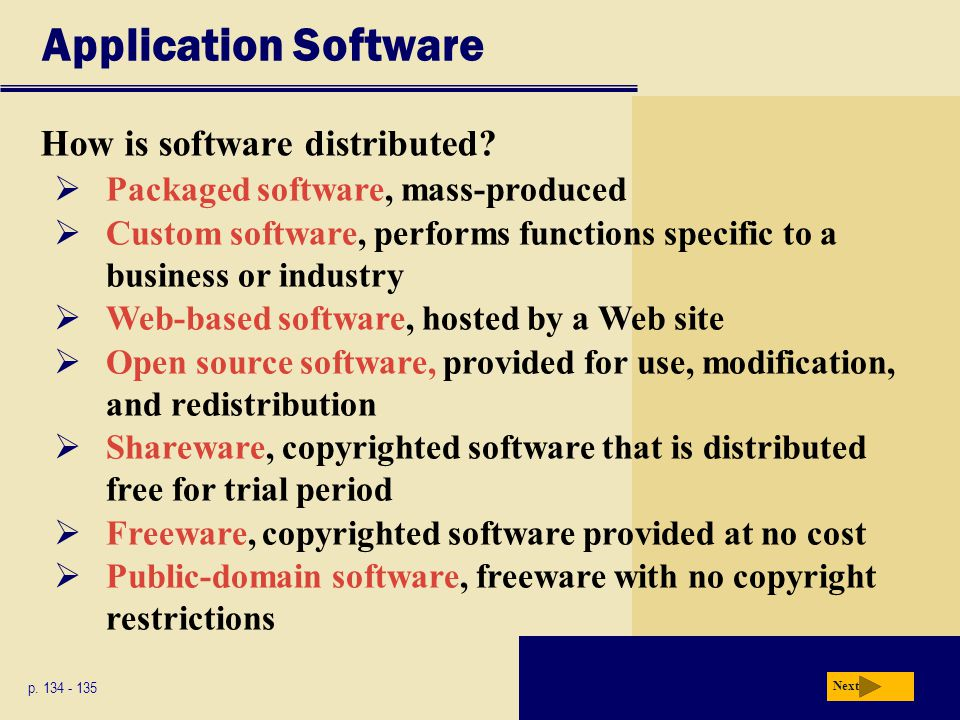 Application Software How is software distributed
