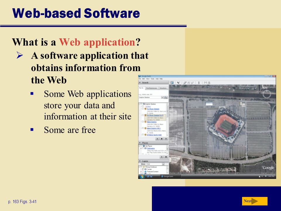Web-based Software What is a Web application
