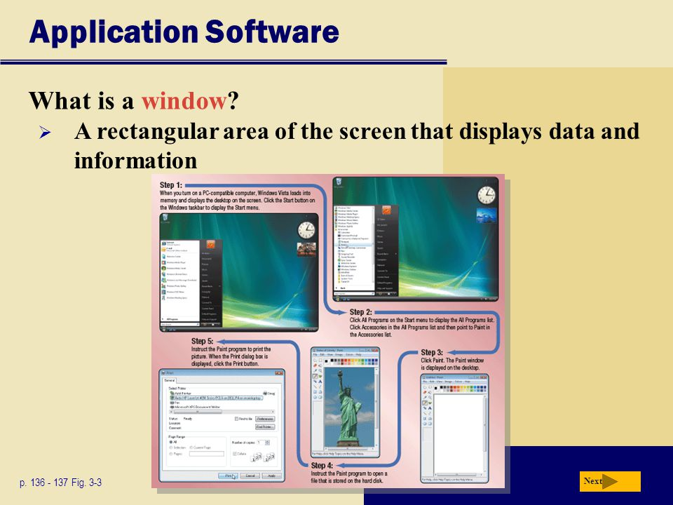 Application Software What is a window