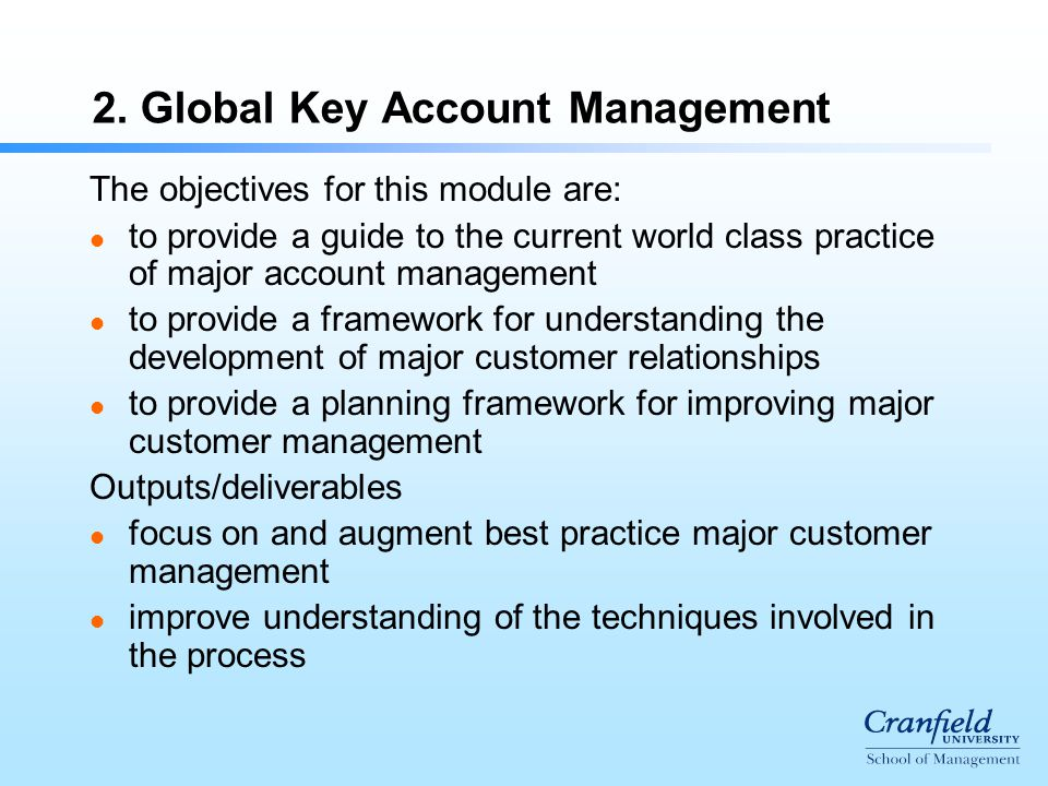global key account management - Global Account Manager