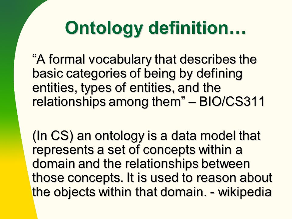 on the relationship of ontologies and models