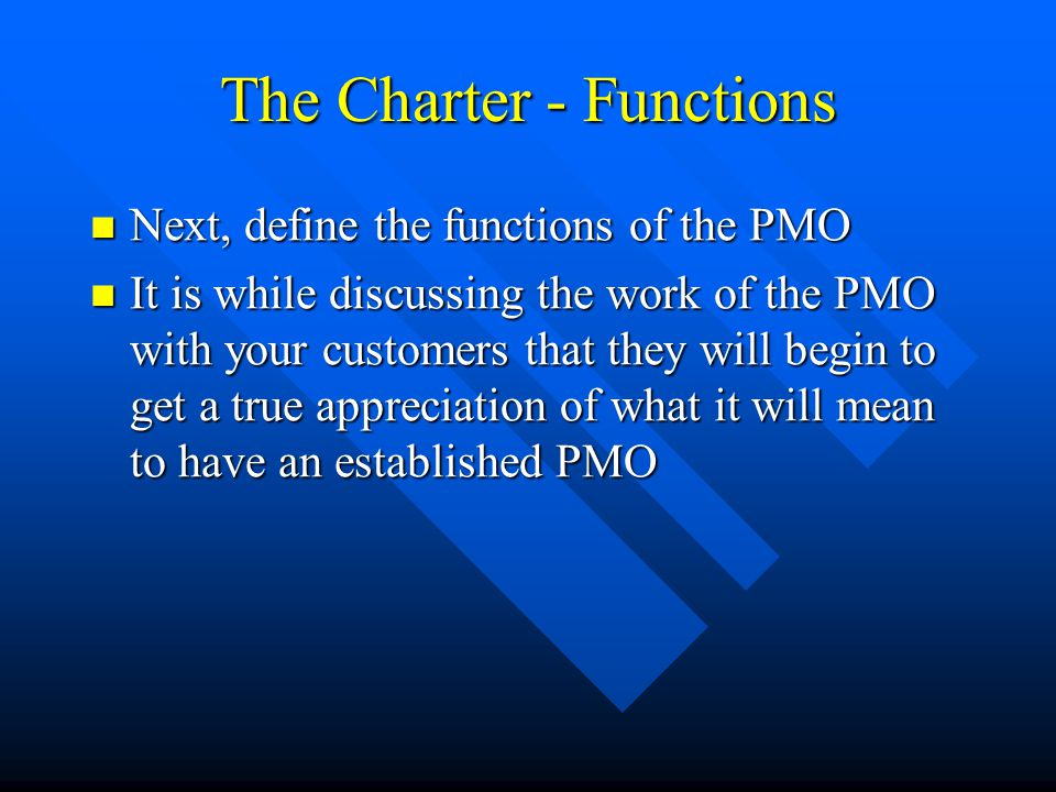 The Charter - Functions