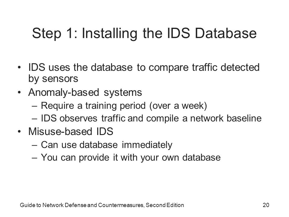 Step 1: Installing the IDS Database