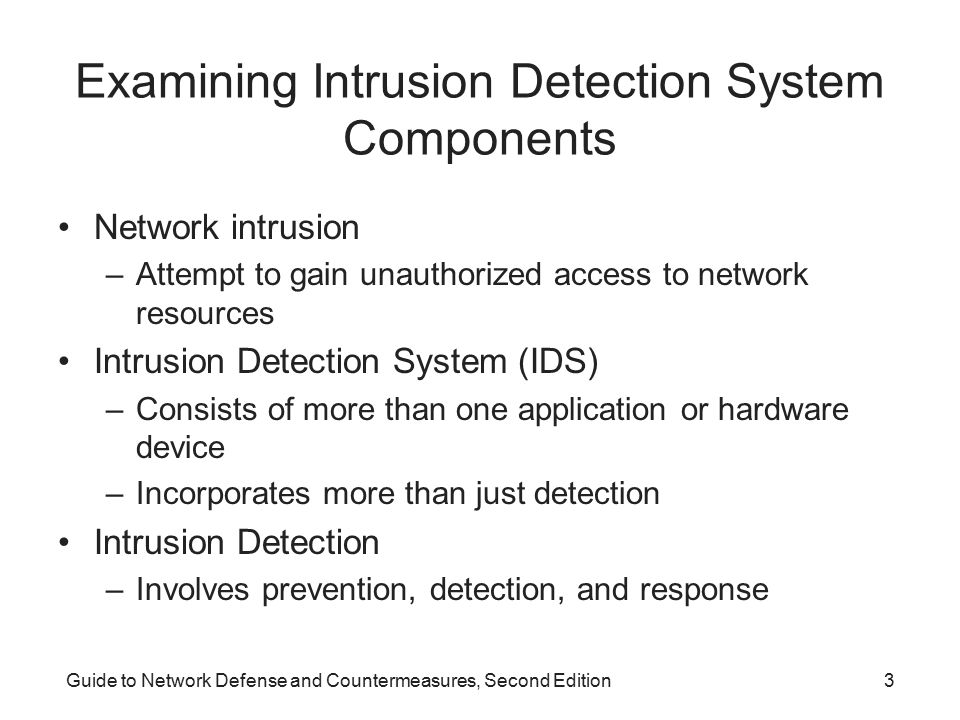 Examining Intrusion Detection System Components