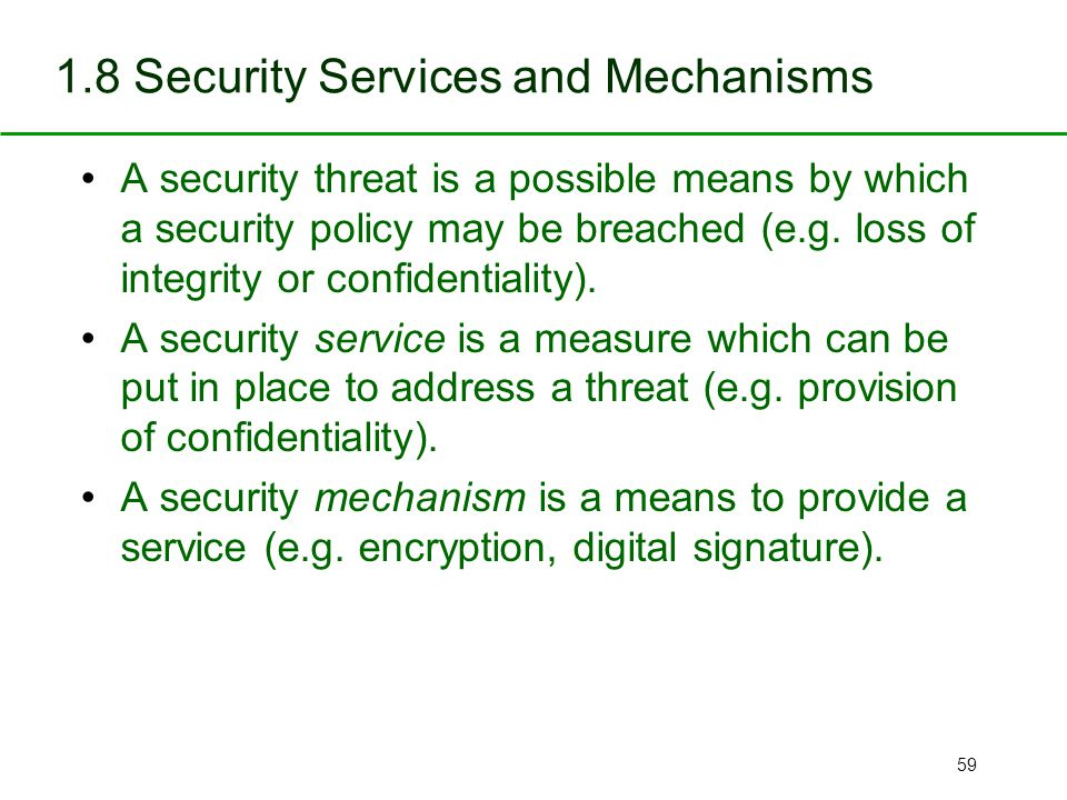 Providing Services When a Threat May Exist