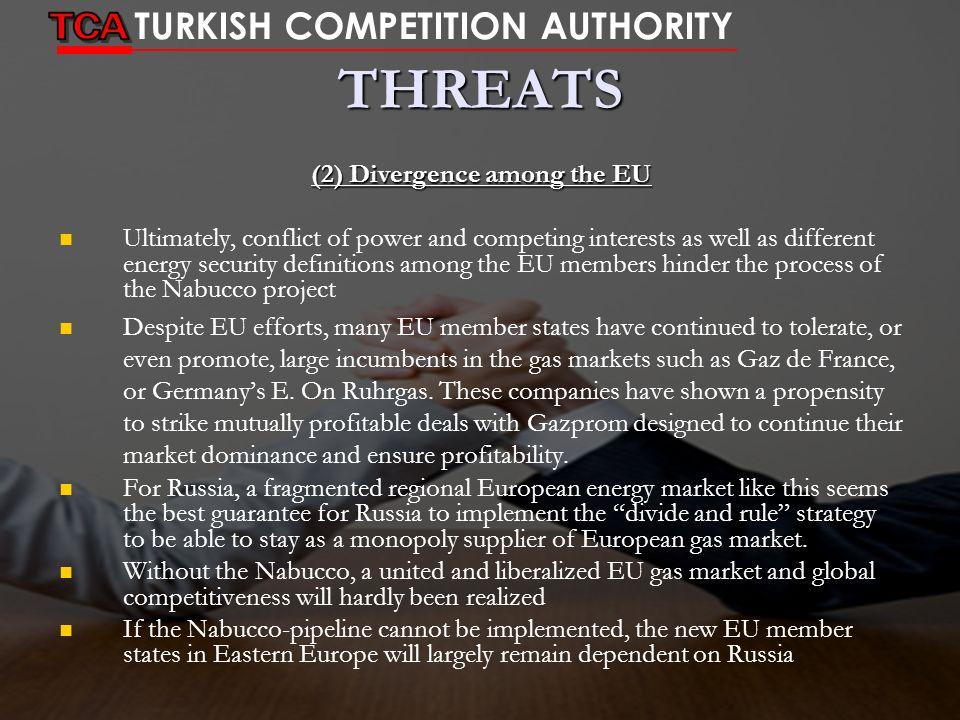 (2) Divergence among the EU