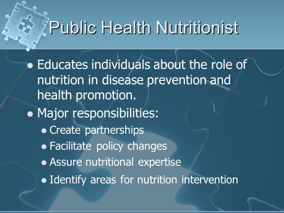 Public Health Nutritionist