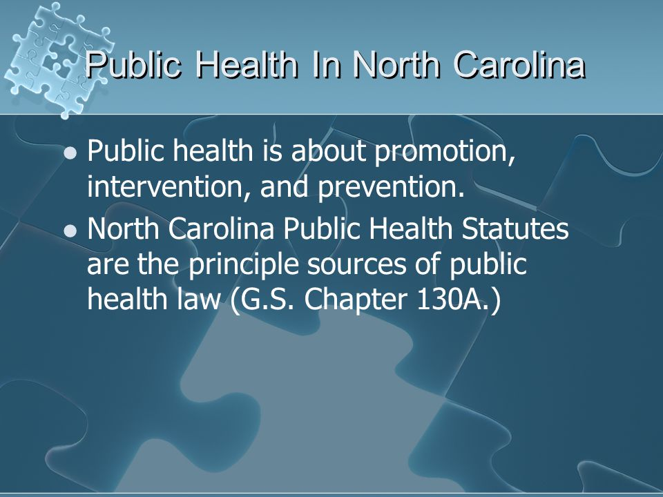 Public Health In North Carolina