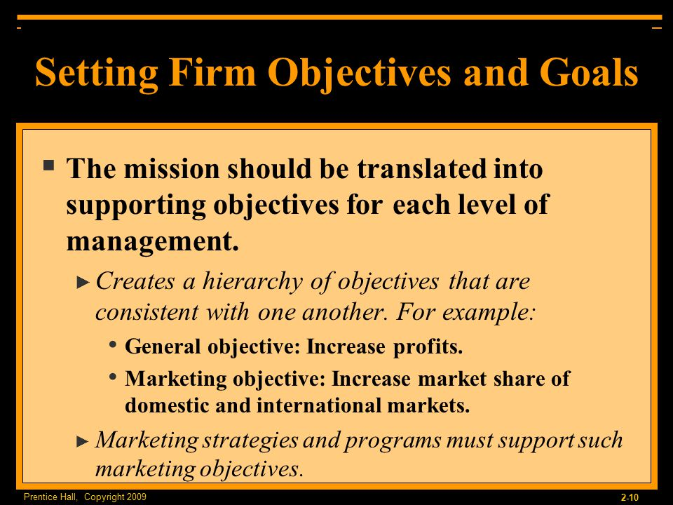 international marketing objectives of honey manufacturer A firm's marketing objectives should be consistent with the company's objectives at other levels, such as the corporate level and business level an example of a marketing objective for pepsico might be to increase by 4 percent the market share of gatorade by the end of the year.