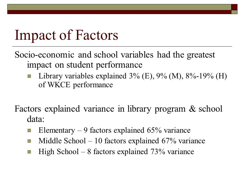 impact of student socio economic background on performance Low socioeconomic background at a proficient performance level in mathematics the impact of socioeconomic status on student achievement in a rural east.