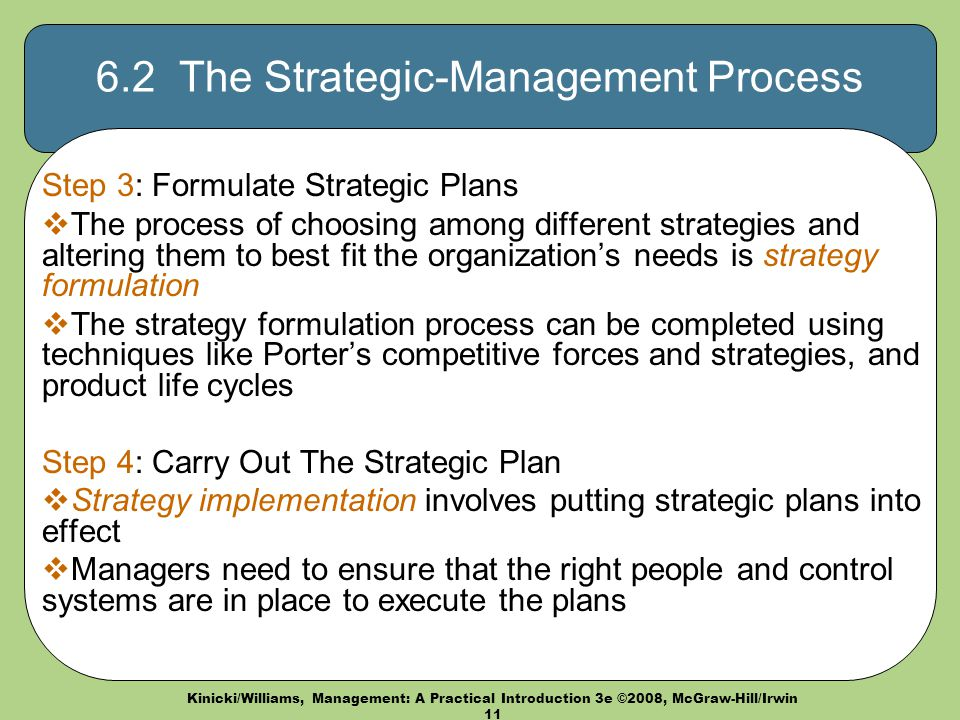 who need to be involved in formulating organizational strategy A way to answer to the question of who is involved in strategic planning for any given organization is to ask another question who is responsible, or accountable for the formulation and execution of the corporate strategic plan.