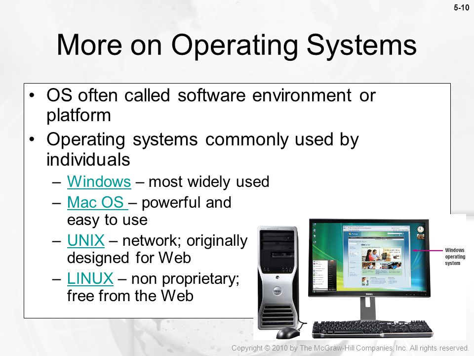 More on Operating Systems