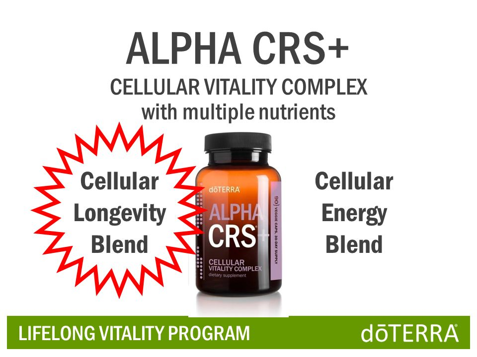 ALPHA CRS+ Cellular Longevity Blend Cellular Energy Blend