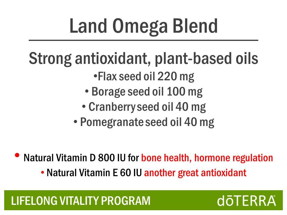 Land Omega Blend Strong antioxidant, plant-based oils