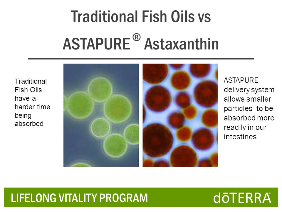 Traditional Fish Oils vs ASTAPURE ® Astaxanthin