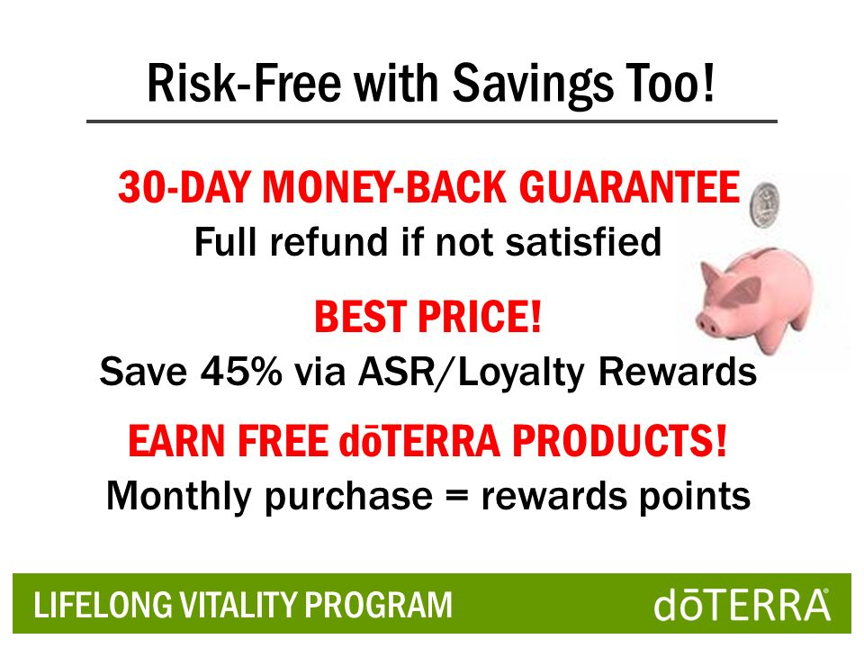 Risk-Free with Savings Too!