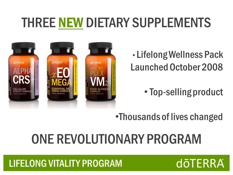 THREE NEW DIETARY SUPPLEMENTS