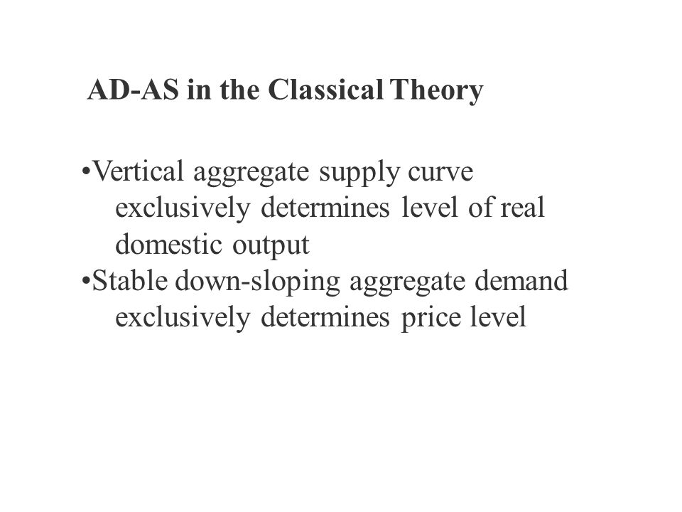 AD-AS in the Classical Theory