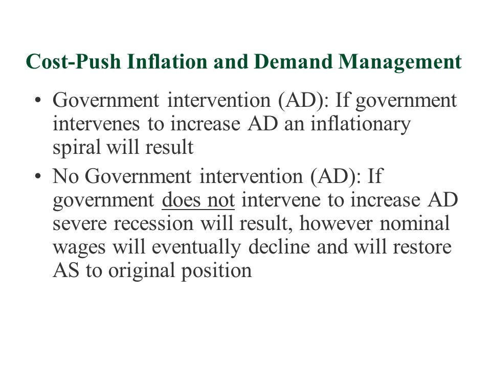 Cost-Push Inflation and Demand Management