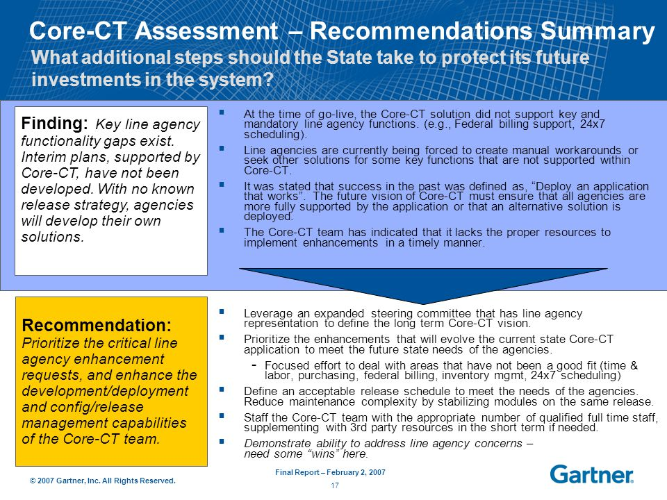 ct assessment report ppt