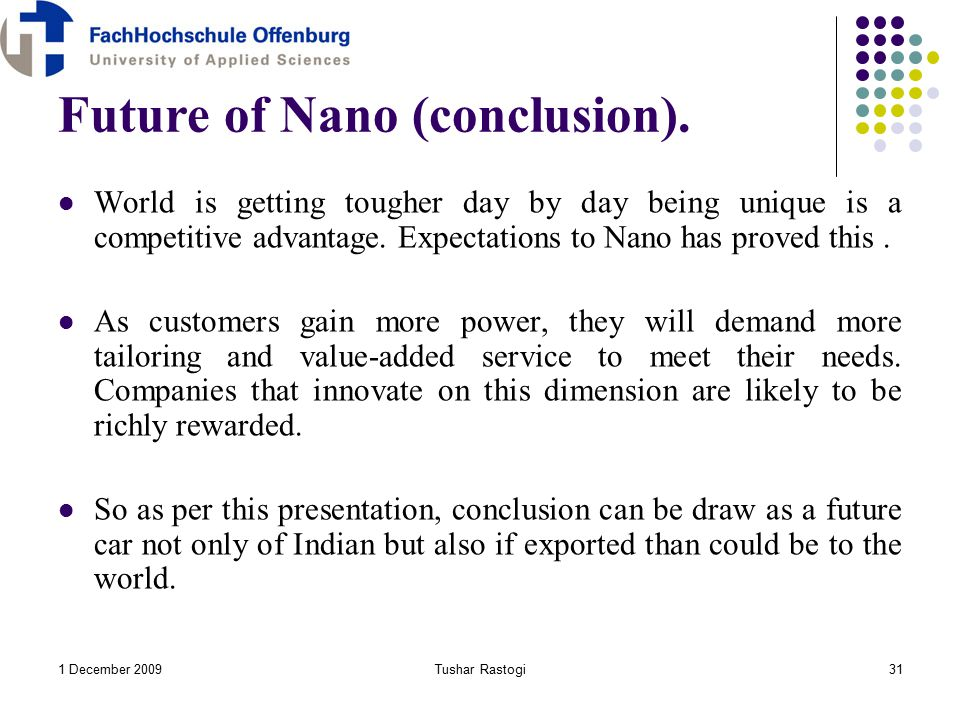 tata nano conclusion The essay conclusion top 10 essay tips  free business essays home  the tata nano team settled for about 100 tier 1 suppliers out of the thousand others to.