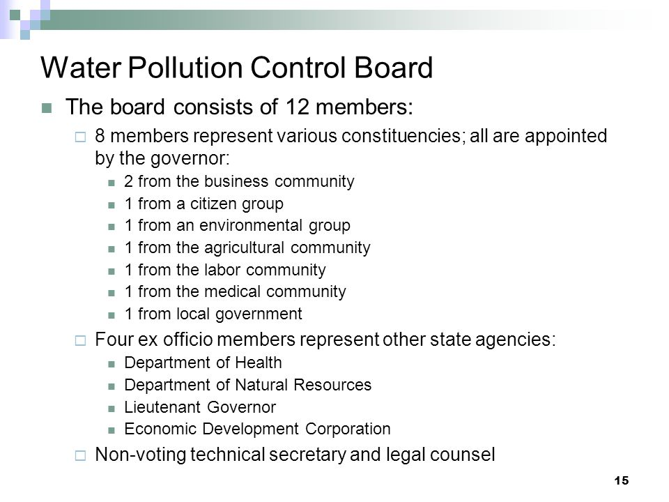 Water Pollution Control Board