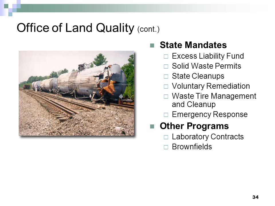 Office of Land Quality (cont.)