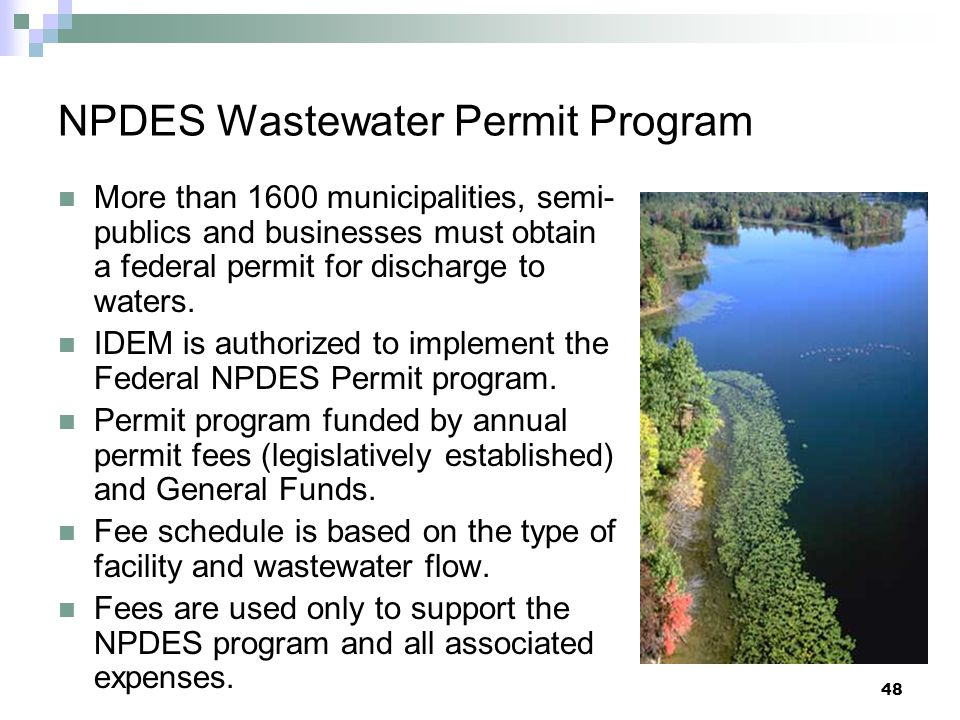 NPDES Wastewater Permit Program