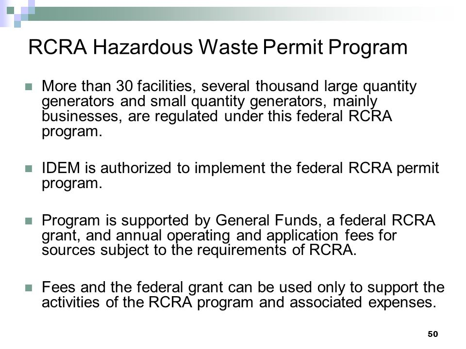 RCRA Hazardous Waste Permit Program