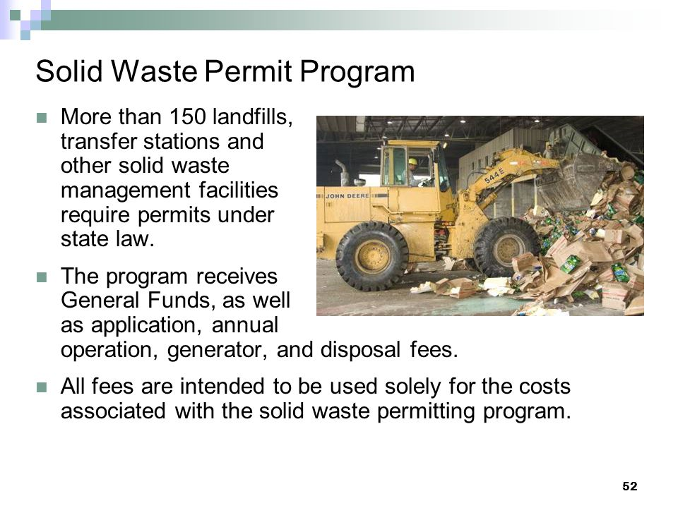 Solid Waste Permit Program