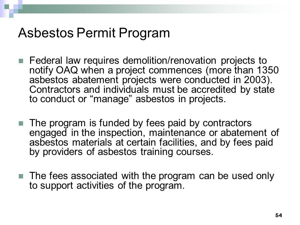 Asbestos Permit Program