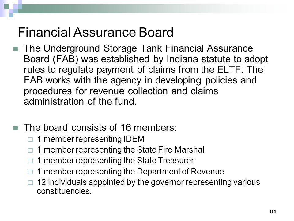 Financial Assurance Board